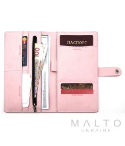 Travel Wallet GENOVA Viva Light Pink