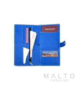 Travel Wallet GENOVA Viva Blue
